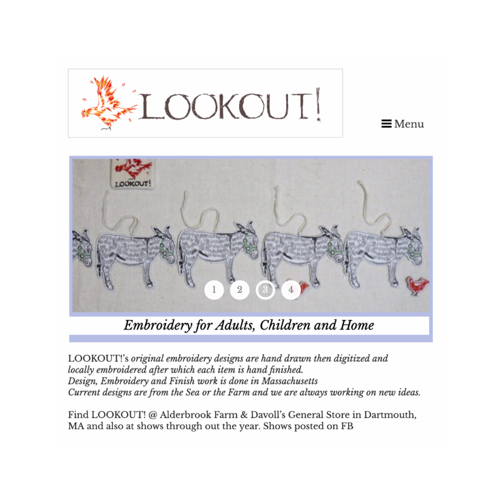 Lookout! Embroidery for Adults, Children and Home